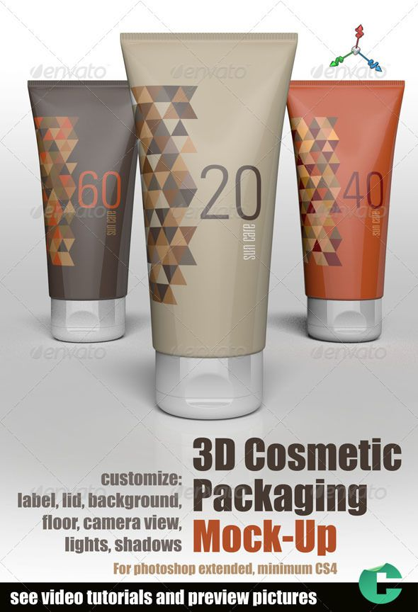 3D Object - Cosmetic Packaging Mock-up