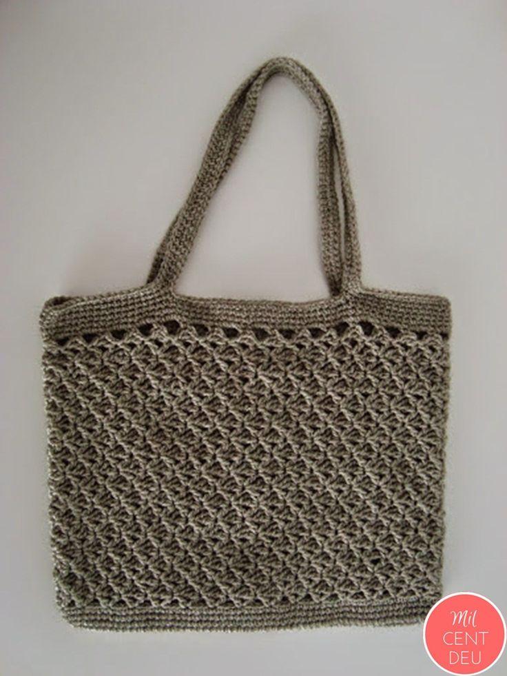 Bolso gris en ganchillo/ crochet para la prensa diaria. - Milcentdeu