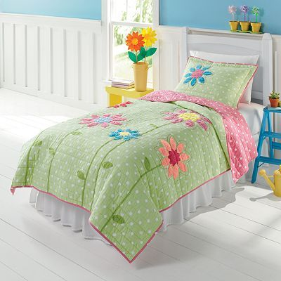 "Jumping Beans Blossom Quilt Set- wonder if it's too ""little"" to last very many years."