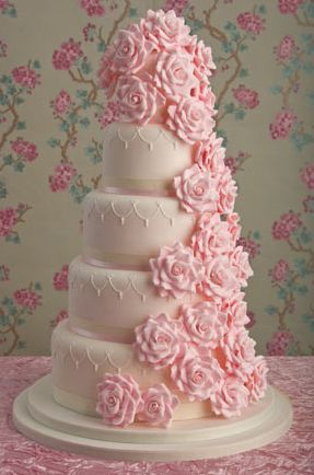 Romantic Rose Wedding Cake 198x300 Maisie Fantaisie cakepins.com