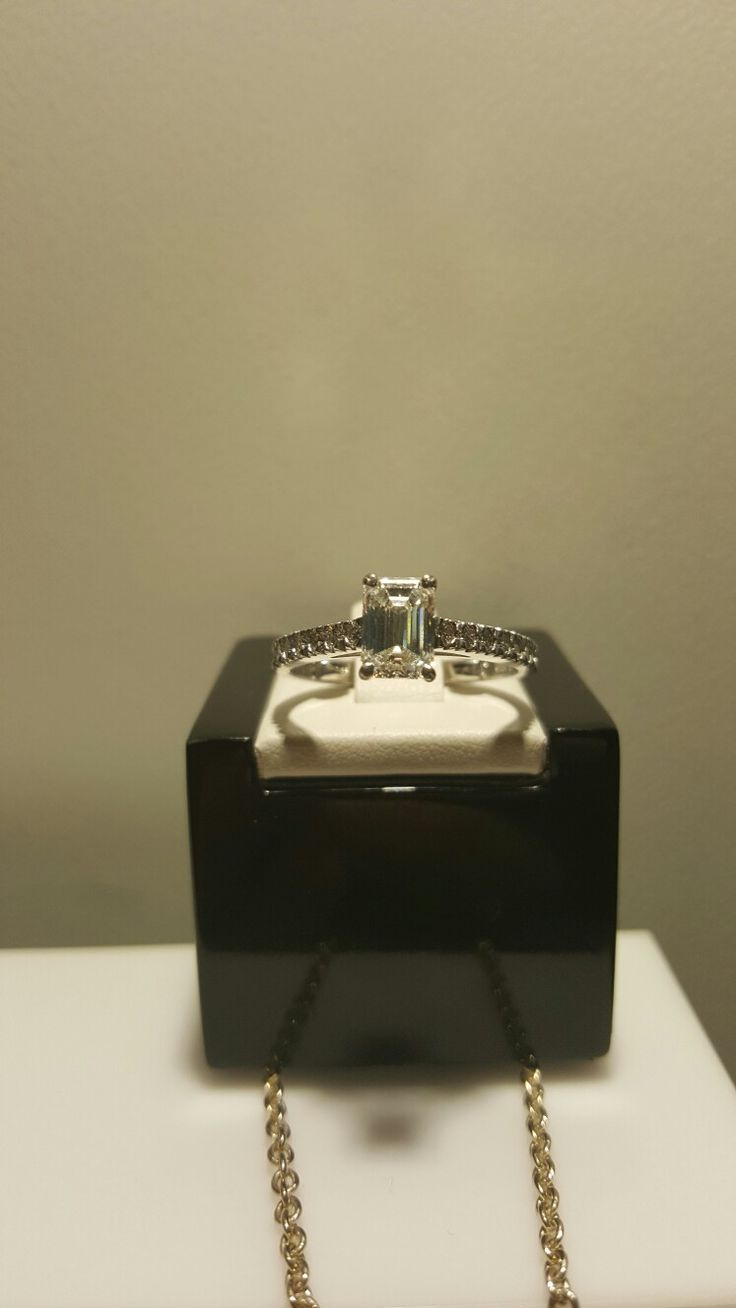 Emerald Cut Engagement Ring made in store