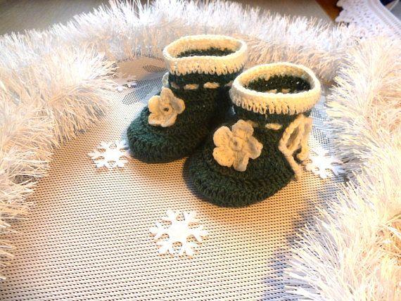 Crochet Baby Booties for a dress crochet baby shoes crochet