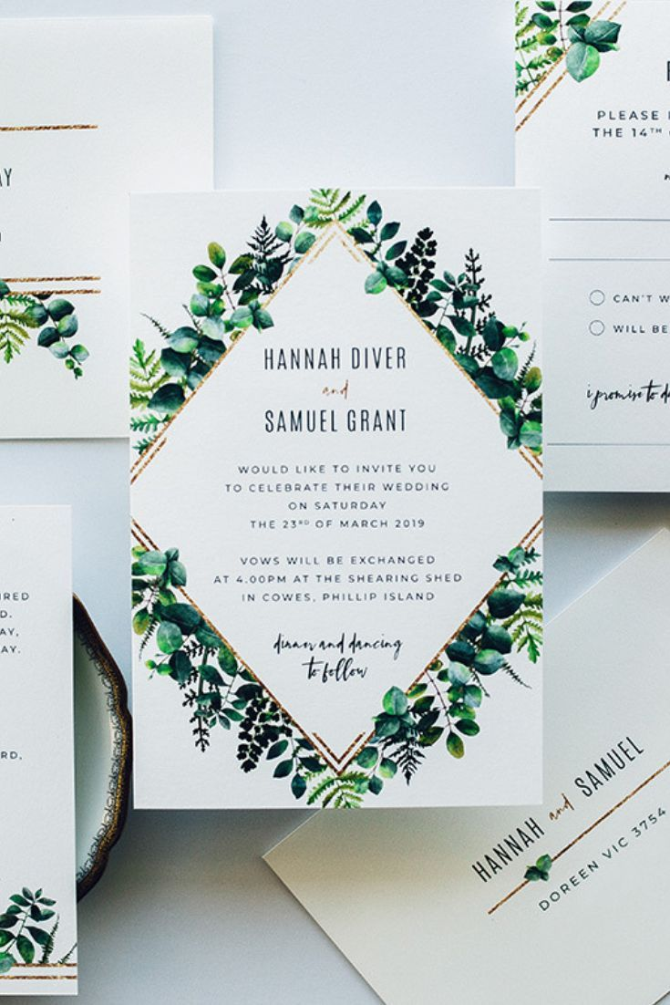 Full Custom Wedding Invitation Suite For Lovely Hannah And Samuel Featuring Plenty Of Gr Green Wedding Invitations Wedding Invitations Diy Wedding Invitations