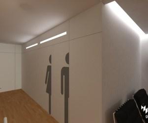 señaletica puertas baño /recorte de silueta