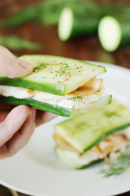 The Kitchen is My Playground: Low-Carb Smoked Turkey & Cucumber 'Sandwiches'