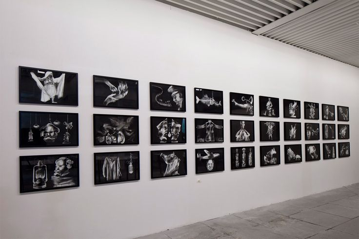 Madhusudhanan Penal Colony, 2015. Series of 70 charcoal drawings on paper, each 73.6 x 53.3 cm. Courtesy the Artist