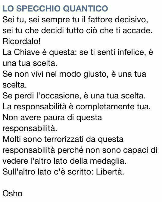 Libertà di essere se stessi...∞