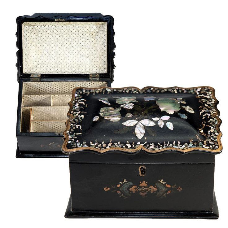 Decorative Stationery Boxes Interesting 57 Best Antique Victorian Papier Mache Images On Pinterest Design Decoration