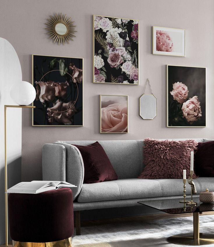 Bilderwand im Wohnzimmer | Gestalten Sie im Wohnzi…