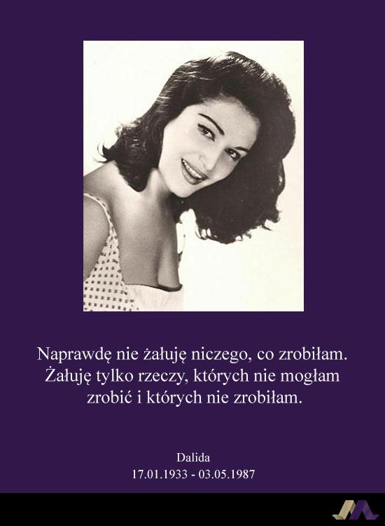 Dalida. Jedna z największych piosenkarek wszech czasów.  Zapal swój znicz pamięci na: http://ariamemoria.com/category/miejsca-wspomnien/
