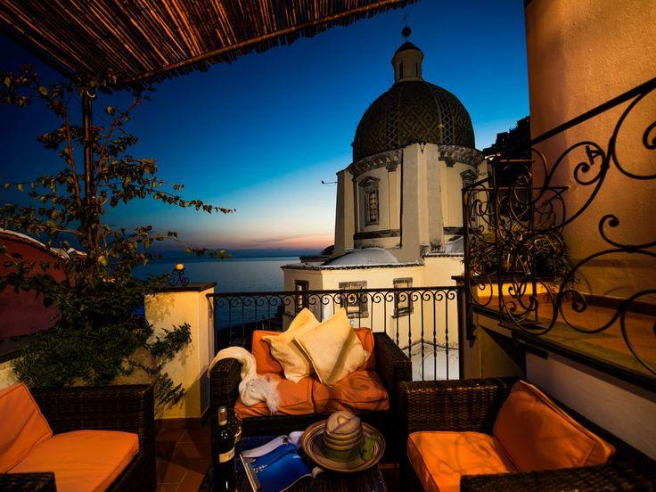 Il tramonto sul mare di Positano... che bellezza!