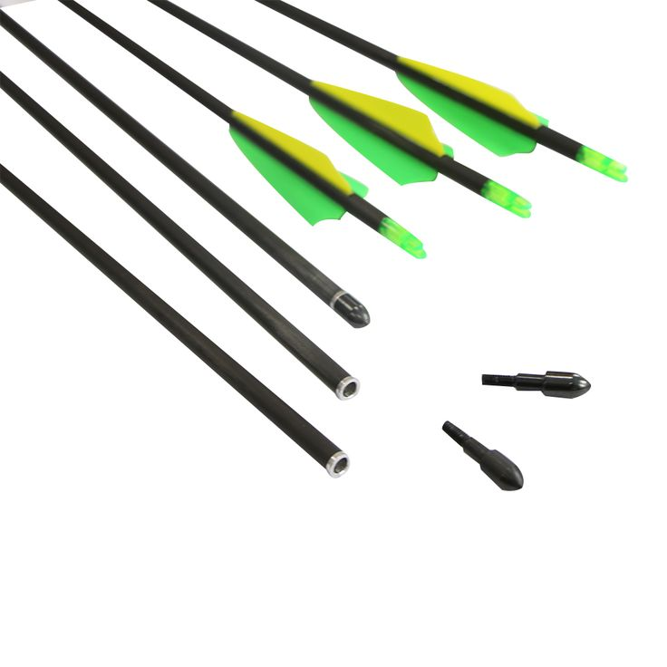 12pcs Replaceable Arrowhead,30inch,Spine 400,pure Carbon Arrows,Hunting Bow Arrows,for Compound/Recurve Bow Carbon Arrow(China (Mainland))