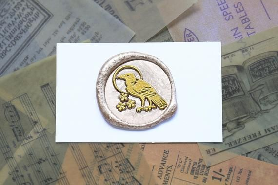 raven stamp  personalized stamp  raven gifts