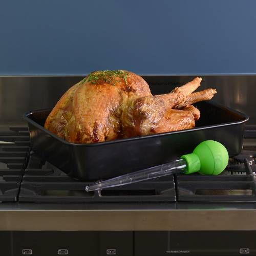 Non-Stick Roasting Trays,Non-Stick Roasting Tins, ProCook Non-stick Roasting Tin, with Meat Baster, regular1