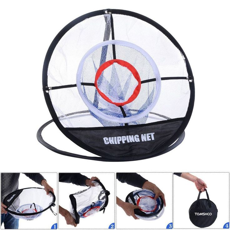 TOMSHOO Portable Golf Chipping Net 20 inch Golf Training Chipping Net Hitting Aid Golf Practice Net Cage Indoor Outdoor Bag Find latest in Golf Push Carts and More @ http://bestgolfpushcarts.net/product-category/golf-push-carts/caddylite/