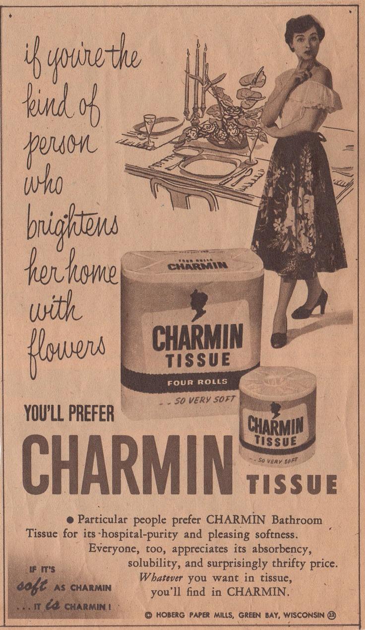 Vintage bathroom ads - Lol Charmin Ad 1952