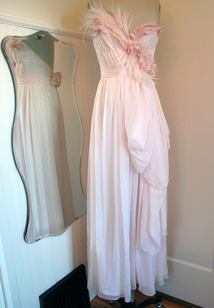 Blush Wedding Dress With Feathers : Best ideas about feather wedding gowns on