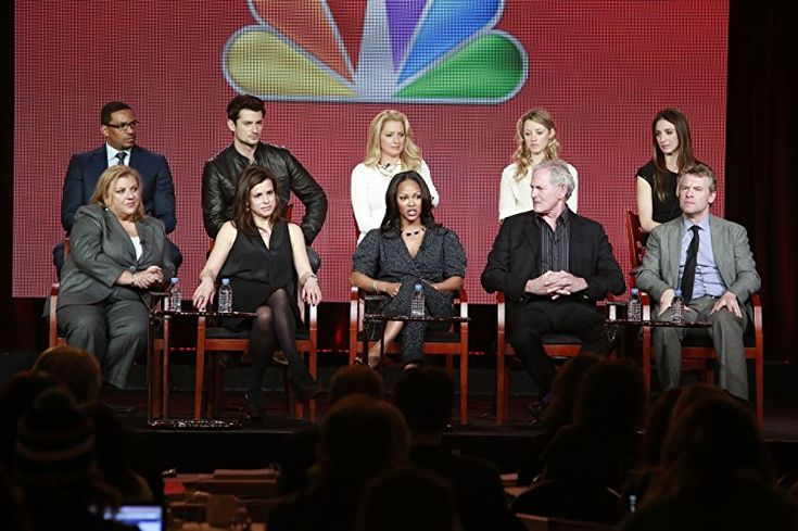 Victor Garber, Tate Donovan, Laz Alonso, Gail Berman, Meagan Good, Liz Heldens, Marin Hinkle, Katherine LaNasa, Wes Brown, and Ella Rae Peck at an event for Deception (2013)