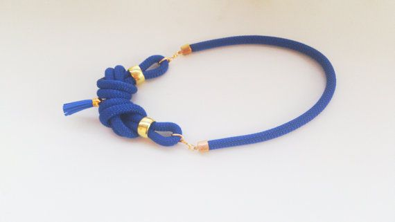 Handmade statement necklace with double nautical knots by bizeli, €23.00
