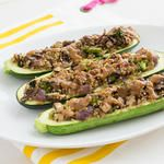 What I Ate This Week | Stuffed Zucchini with Quinoa & Peanut Sauce + Other Peanut Buttery Things