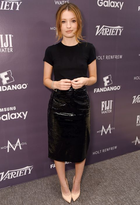 """Emily Browning Discovers the """"Librarian Dominatrix"""" Look at #TIFF15 from InStyle.com"""