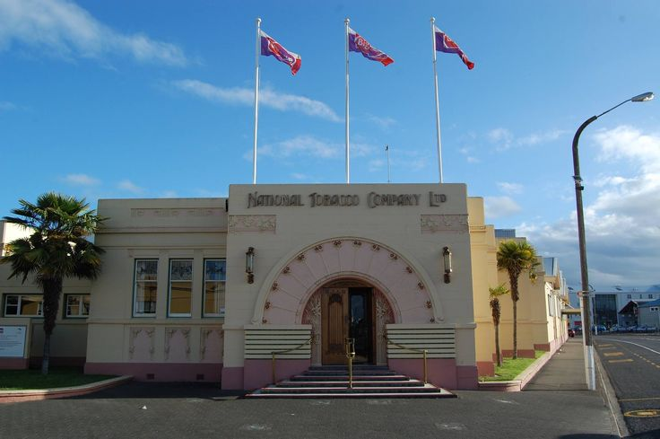 Art Deco National Tobacco Company Building in Napier