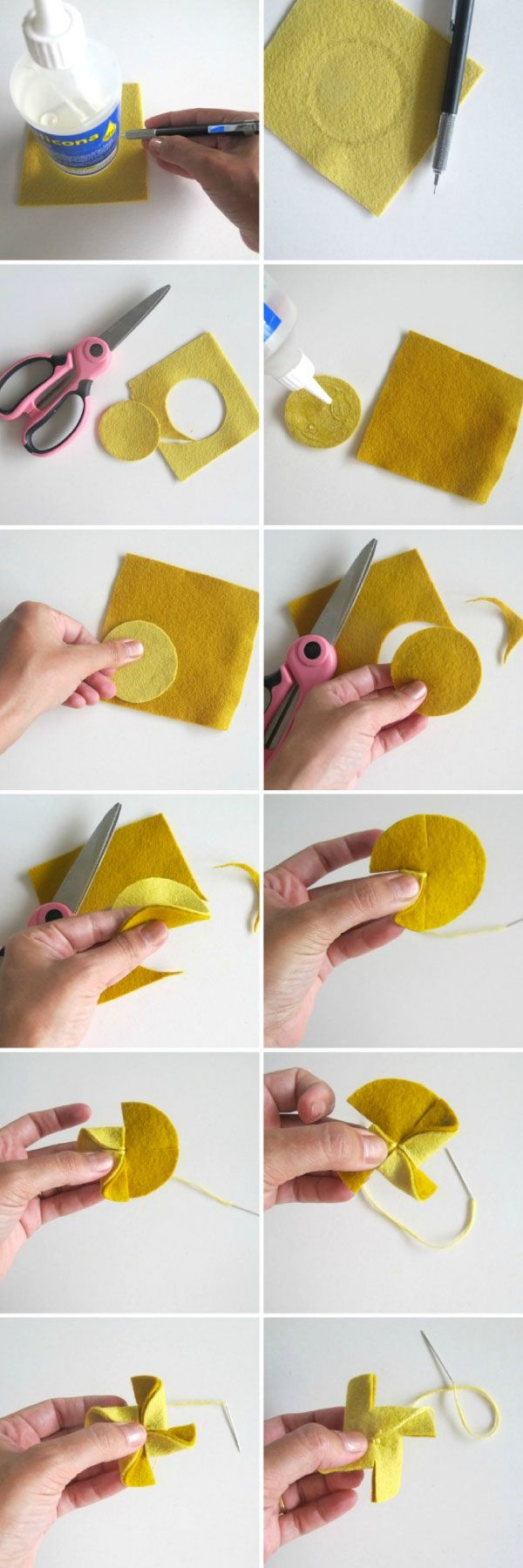 felt pinwheel  there are a ton of other things in this blog that are great ideas...