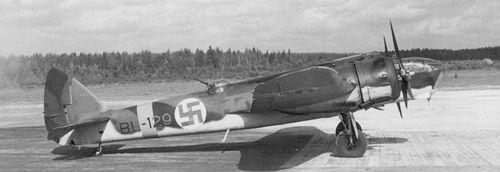 Finnish Air Force Blenheim aircraft, date unknown