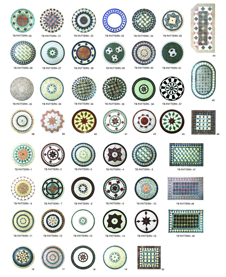 mosaic patterns for tables! ❤️