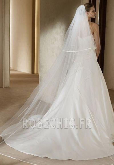 Robe de mariée Bustier Dépouillé Traîne Mi-longue Triangle Inversé