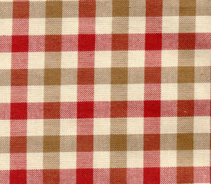 New Carreaux 6137 -Red/Tan : Marvic Textiles