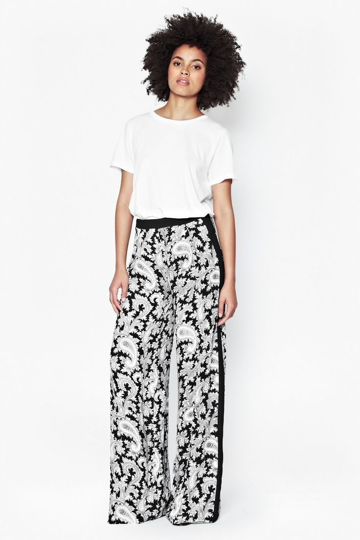 Paisley Party Wide Leg Trousers - Sale - French Connection