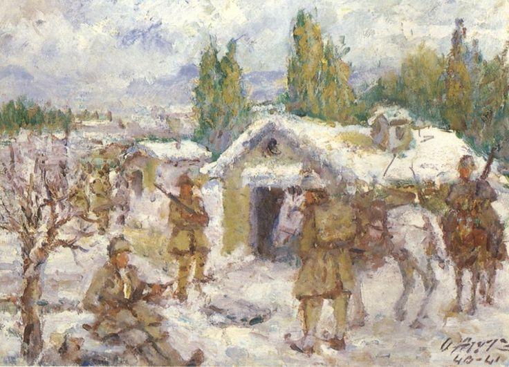 Εικόνες από τον ελληνοϊταλικό πόλεμο του 1940     …και μία επετειακή ανάρτηση! Είναι τρεις πίνακες του Ουμβέρτου Αργυρού (1882/84-1963) α...