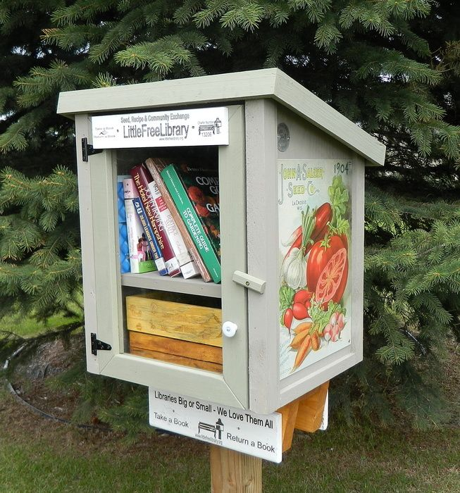 Seed, Recipe and Community Exchange Library - Little Free Library