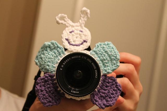 Ravelry: Butterfly Camera Buddy PATTERN pattern by Kristin Hankins