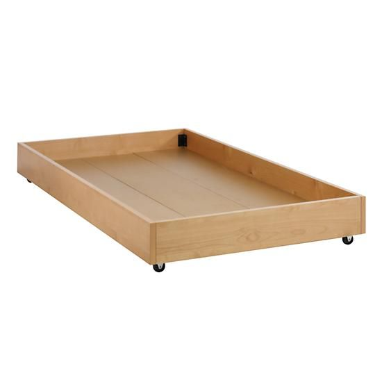 Natural Storage Trundle in Beds | The Land of Nod - Looks easy enough to build myself!  May be my next DIY!