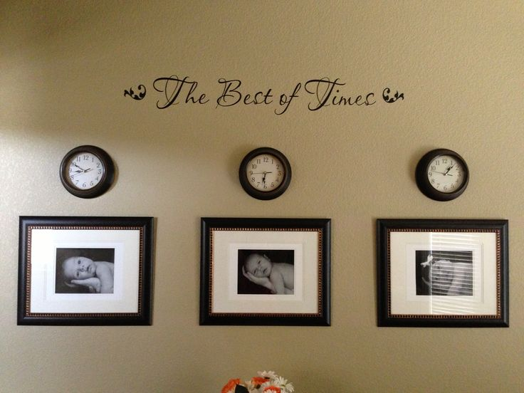The best of times wall vinyl with pictures of my kids for Best house decorations