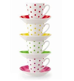 Kate Spade - 'Larabee Dot' Collection - Cups & Saucers