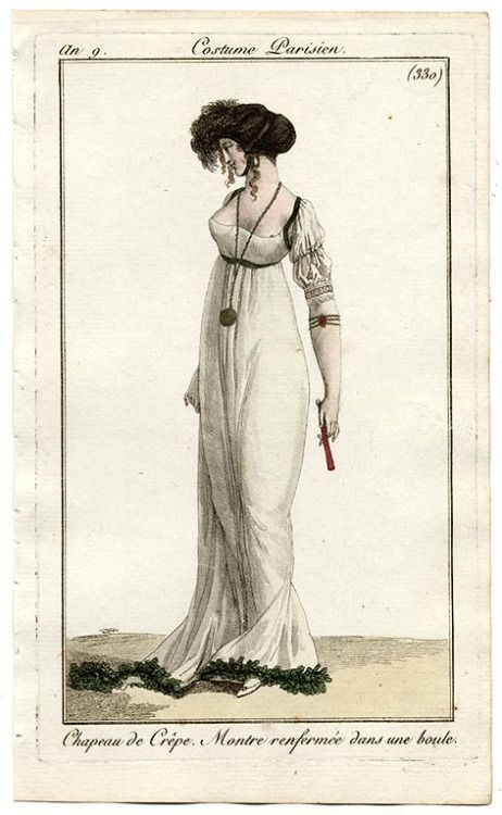 Journal des Dames et des Modes, 1800. Black and white. Classic and always beautiful.