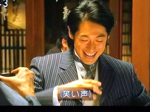 加野屋の招き猫 @kanoya_maneki   と思ったら敵もさるもの!五代さんの「シンちゃんトモちゃん呼びしよう」攻撃 新次郎さんが思わずドン引きしたところで爆笑の五代さん。いやあなたには「この人本気で言ってるんじゃ」と思わせるものがおありになるから…! #あさが来た