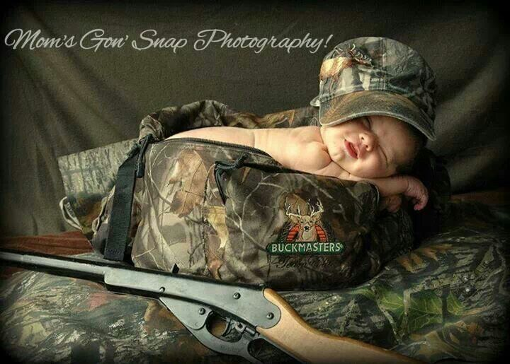 Camo baby picture