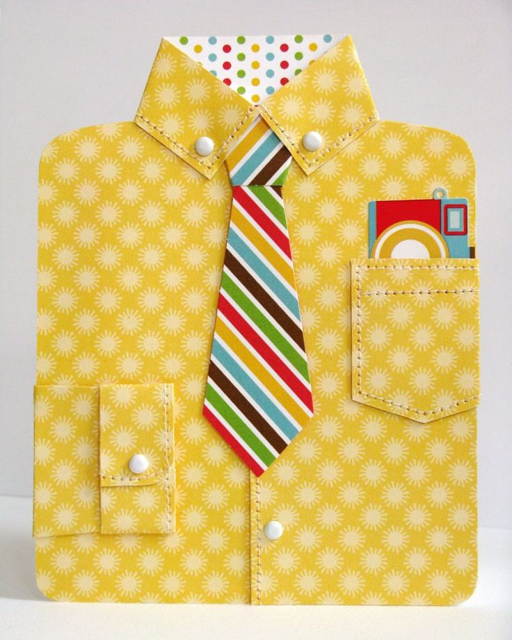 Doodlebug Day To Day Dress Shirt Card by Mendi Yoshikawa - Scrapbook.com - Fantastic father's day card idea made with Doodlebug Design