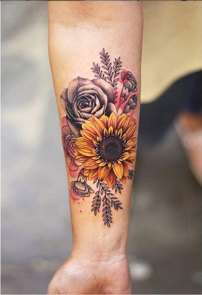 Flower Tattoo by Joice Wang #prettytattoos | Tatuajes ...