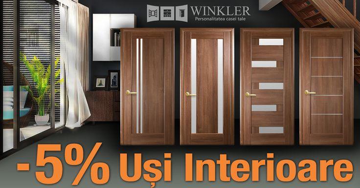 Luna Octombrie îți aduce o reducere de 5% la toate ușile interioare MDF!  Alege ușa potrivită pentru locuința ta, aici!