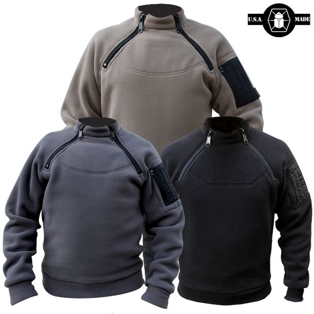 The 2-Zip Fleece is made of very warm 300 weight fleece. It has an interior front flap pocket and a bicep pocket with pen tubes.