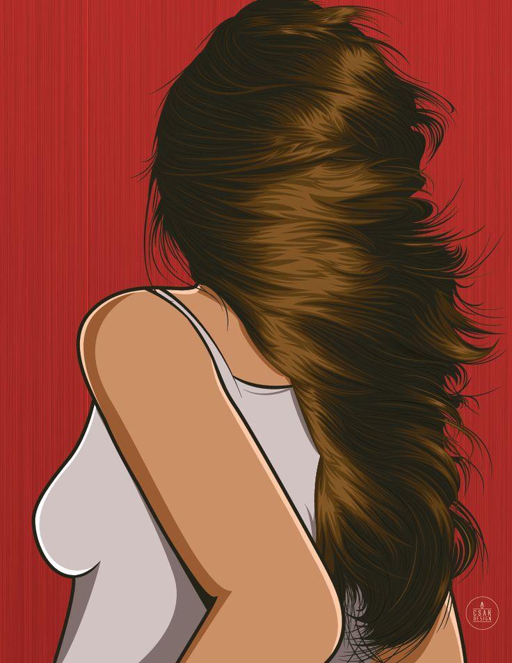 #Vector #hair #illustrationGirl