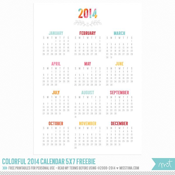 Typography Calendar Free : More printable calendar freebies misstiina