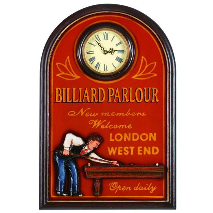 RAM Billiards Game Room Clocks R823