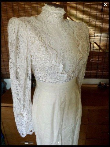 1980s does Victorian-Edwardian wedding white by PURRFECTKATVINTAGE