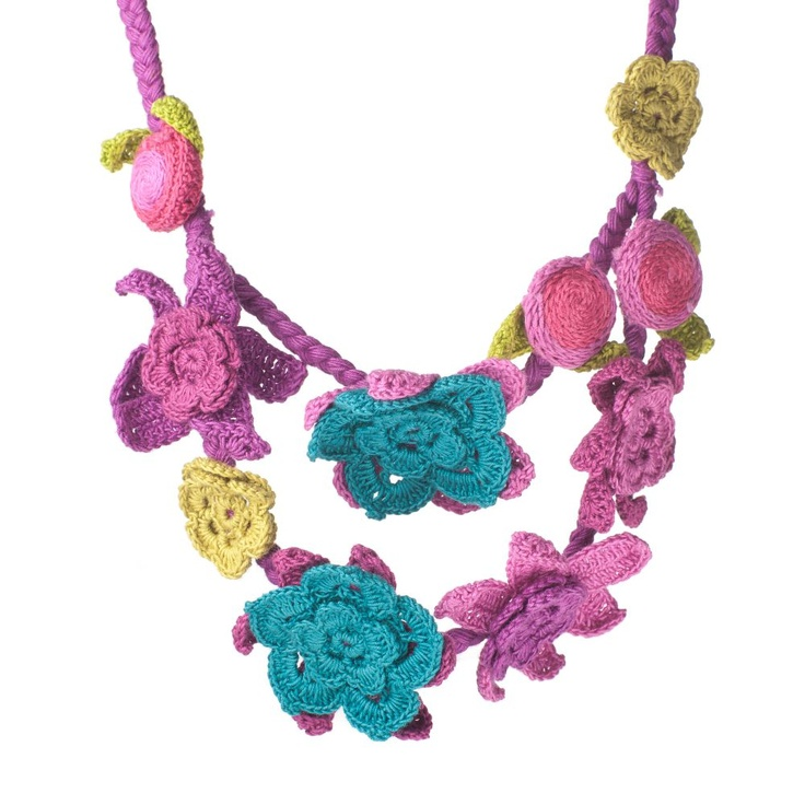 Fair Trade crochet pink flower necklace | Oxfam GB | ShopPink Flower